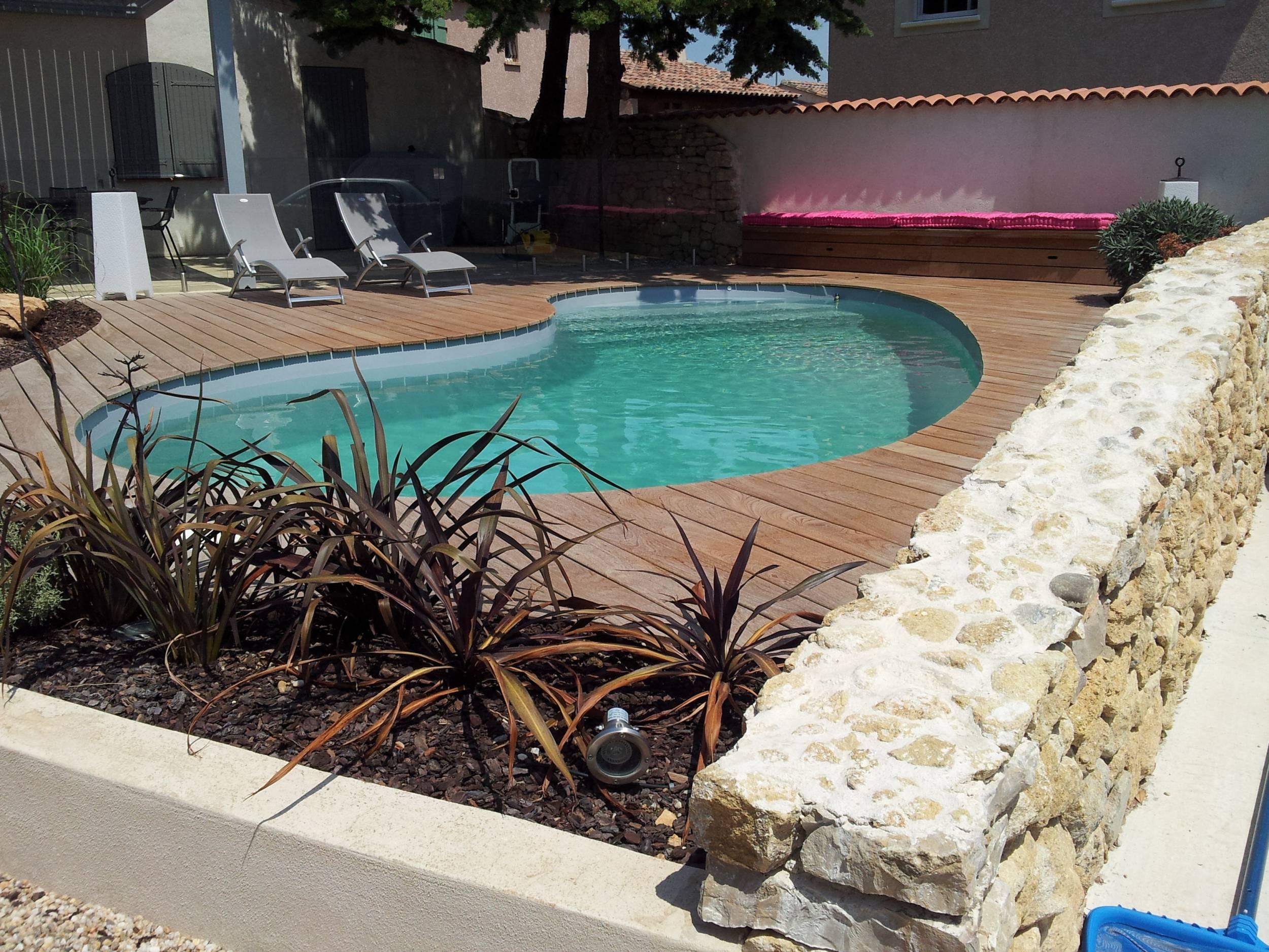 Tour de piscine en ipe lisse du bresil salon de provence - Amenagement piscine bois aixen provence ...