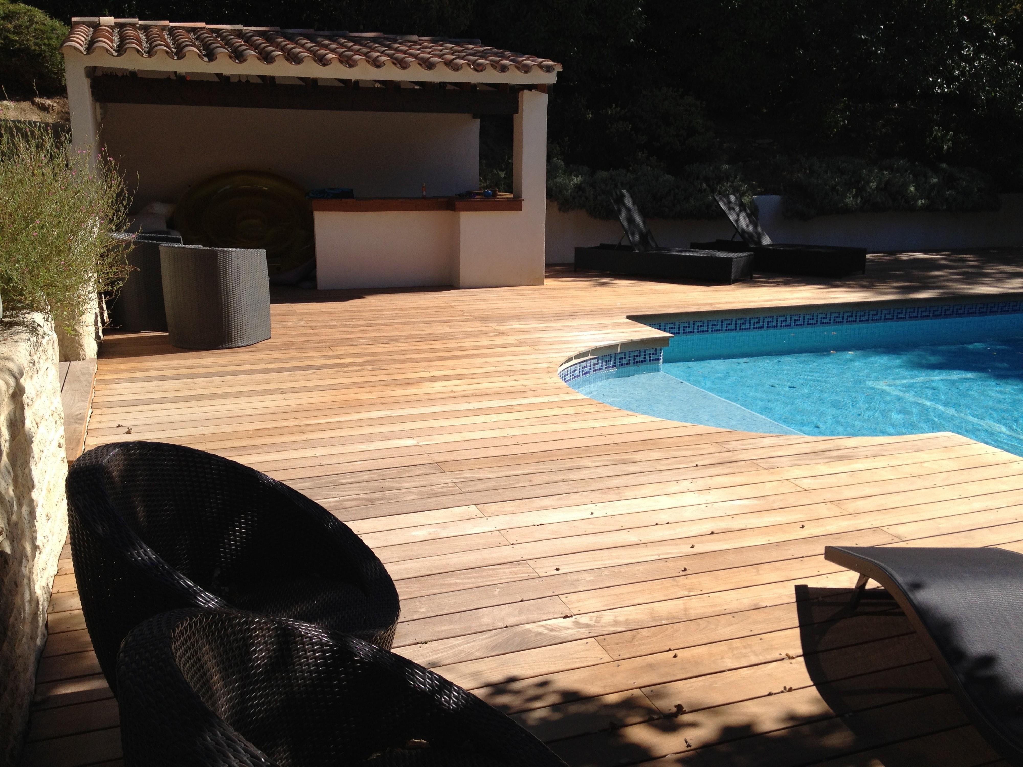 Plage piscine bois var 83 am nagement de terrasse en - Amenagement piscine bois aixen provence ...