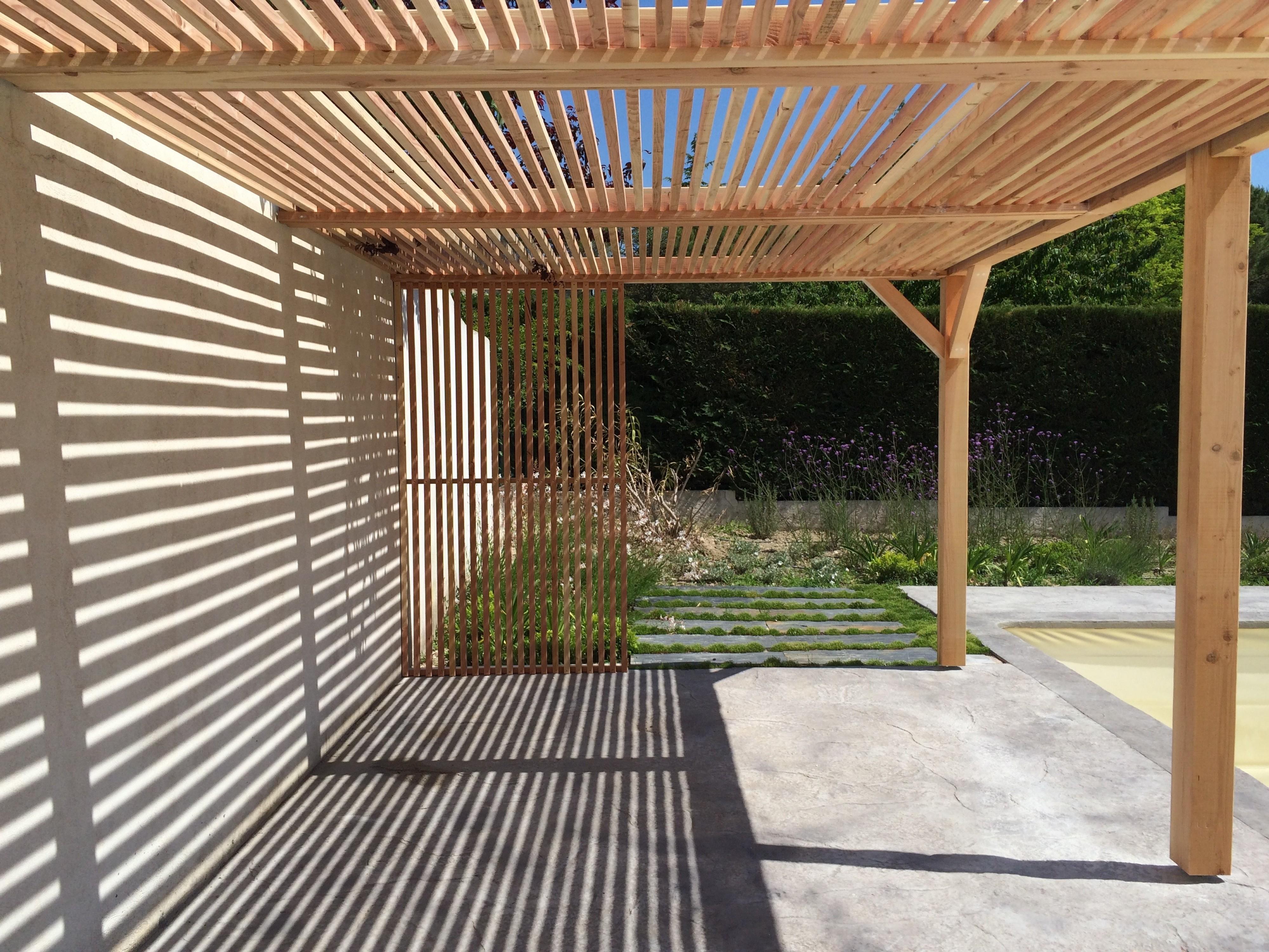 Pergola en bois aix en provence am nagement de - Amenagement piscine bois aixen provence ...