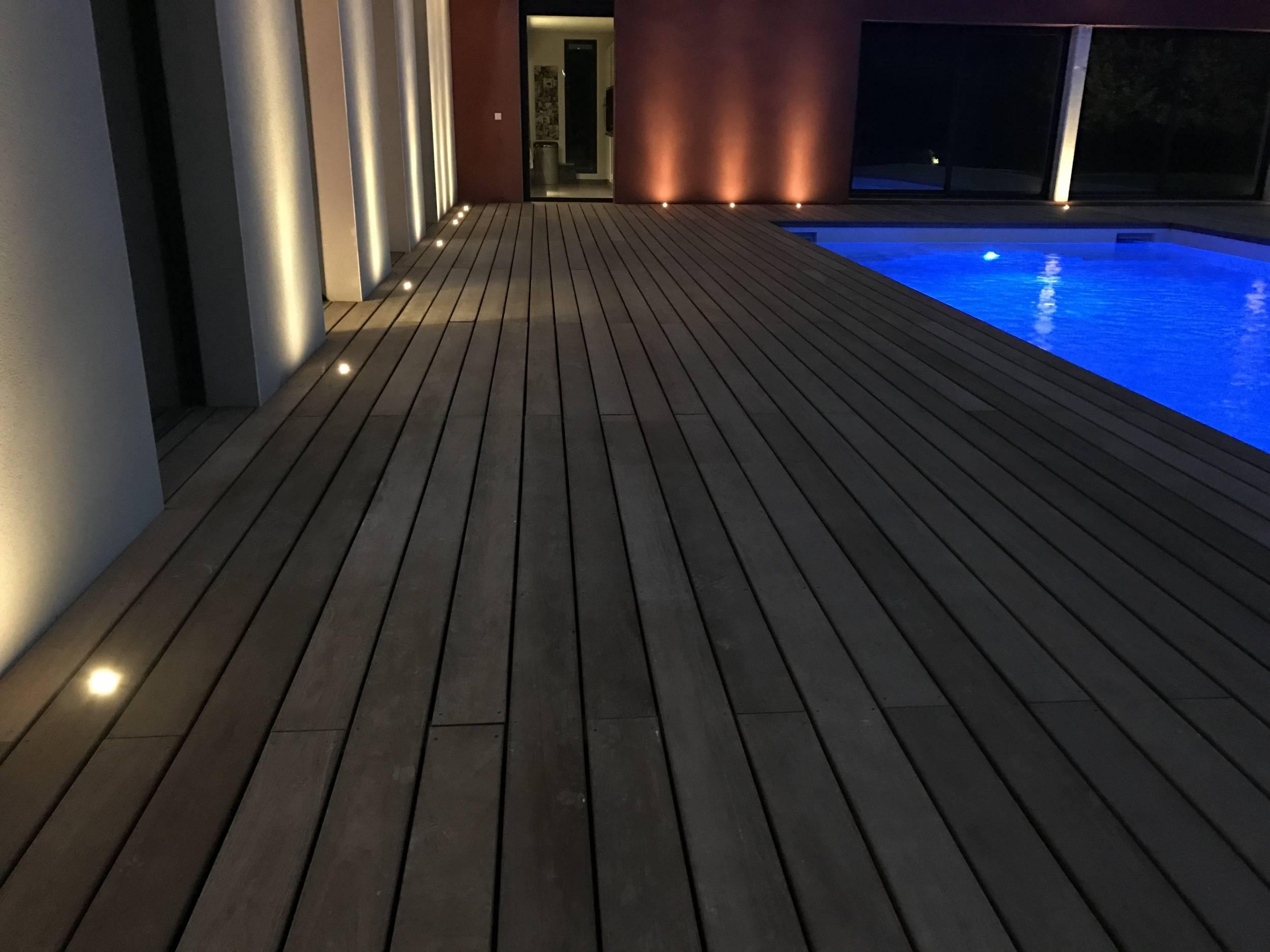 Eclairage Led Autour Piscine relookage d'une plage de piscine : éclairage d'un tour de