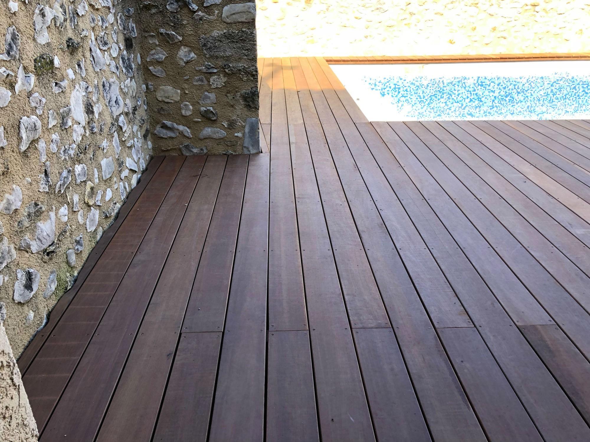 Renovation terrasse bois vaison la romaine am nagement - Amenagement piscine bois aixen provence ...